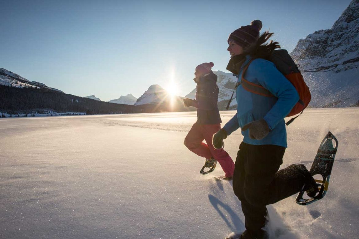 Prime snowshoeing season in Banff & Lake Louise is normally late December through to early April.