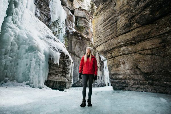 Winter Adventures such as Ice Walks in Jasper National Park